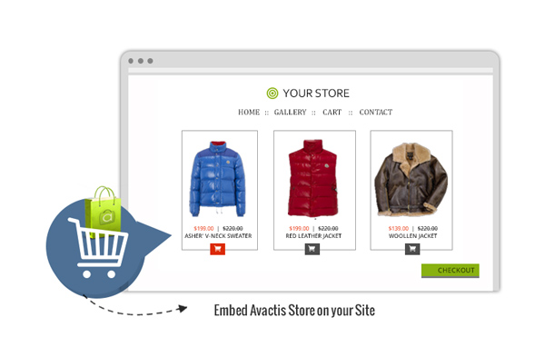 Simple Integration with Existing Web Site using Avactis Tags