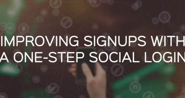 Improving sign ups with one-step social login