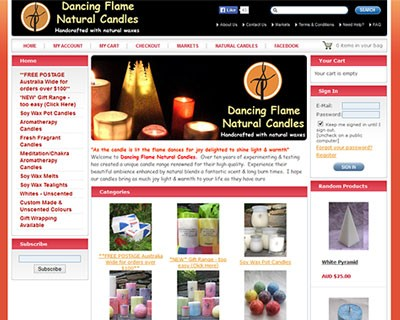Dancing Flame Natural Candles