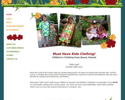 Children's Clothing from Kauai, Hawaii