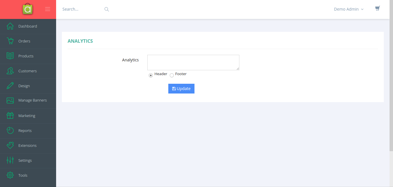 Install Google Analytics code on Avactis Website